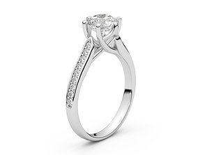 Milan engagement ring 3D print model