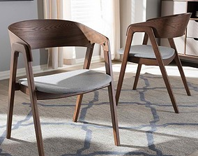 Mid-Century Modern Dining Chair 3D model realtime