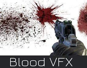 Blood Effects Realistic VFX Damaged Hits Burst 3D model