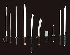 7 PBR Swords 3D model