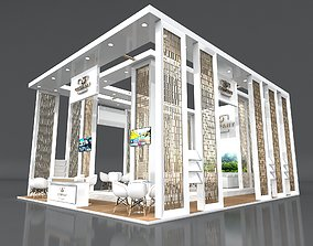 3D model Exhibition Booth Stand Stall 10x8m Height 500 4