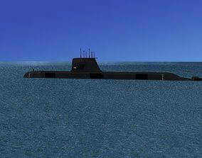 3D model Collins Class HMAS Dechaineux 76