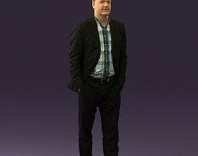 Man in opened suit 0571 3D print model