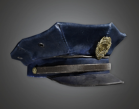Police Hat BHE - PBR Game Ready 3D asset