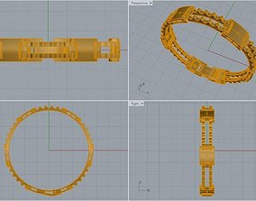Bracelet Without Bolt 3D print model