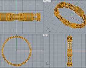 Bracelet Without Bolt 3D print model