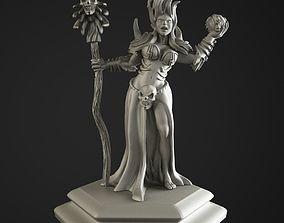 necromancer girl 3D print model