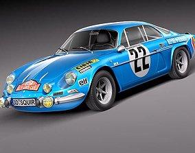 3D model Renault Alpine A110 Rallye 1963 - 1974