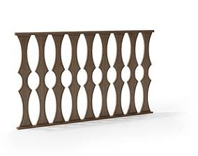 Classic baroque railing 102 am79 3D model