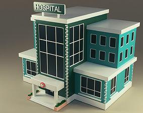 clinic Hospital 3D asset game-ready