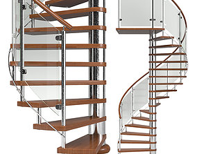 3D model Spiral staircase 03