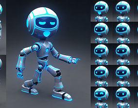 Full Rigged Robot 3D model