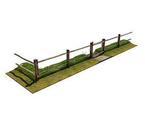 3D Fence Wooden Rural