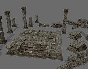 ruin set 3D model
