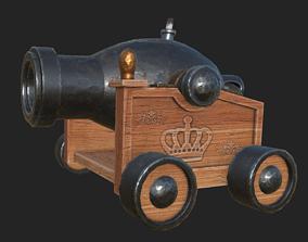 Cannon Cartoon 7 3D asset