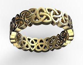 ornate 3D print model celtic ring
