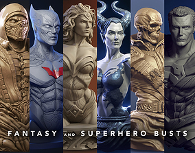 Fantasy and Superhero Bust - 3d print busts