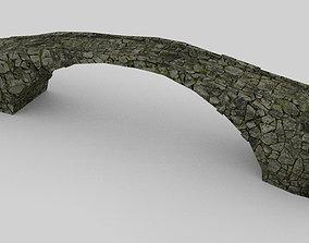 3D asset VR / AR ready Old stone bridge