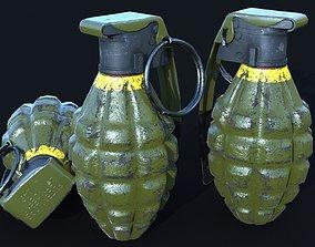 3D model MK2 handgrenade HighPoly plus LowPoly plus 2 LODs