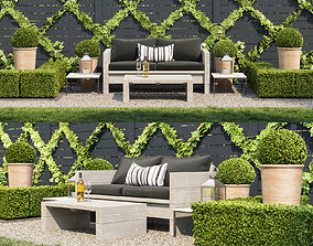 Garden seating area 3D model