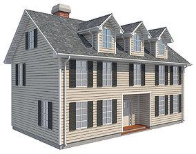 3D asset Family House 1