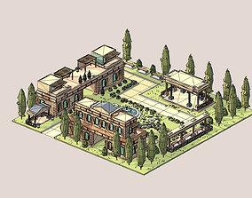 ethnic building 01 3D model