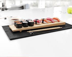 Sushi 3D model realistic
