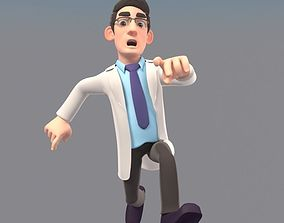 3D animated CARTOON DOCTOR MAN AND WOMEN