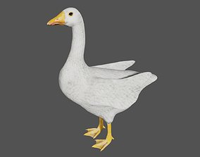 White Goose Duck 3D model