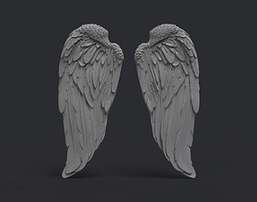 Angel wings fly 3D print model