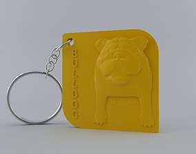 English Bulldog Keychain 3D print model