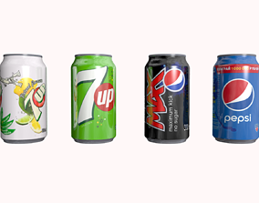Pepsi 7 Up Can 3D model