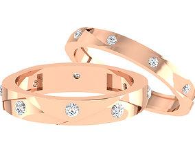 3D print model band precious Couple Band Ring