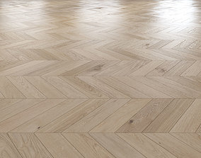 Oak Chevron light floor 3D