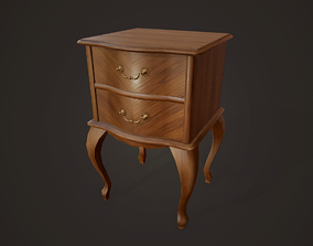 3D asset Bedside Table - PBR Game Ready