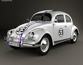 3D model Volkswagen Beetle Herbie the Love Bug