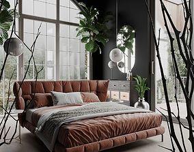 Husk Bedroom Scene for Cinema 4D and Corona 3D model