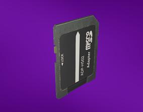 Micro SD adapter 3D model
