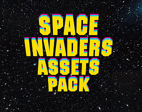 realtime 3d Space Invader Asset Pack