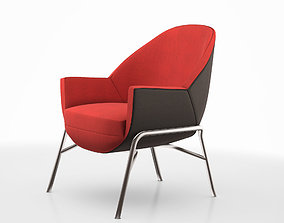 soft S 830 club chair by Thonet 3D