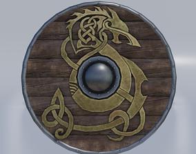 Viking shield 3D model low-poly