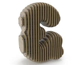 3D Wood symbol And