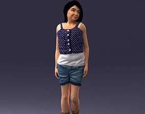 Girl in shorts 0015 3D Print Ready