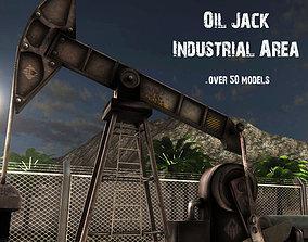 OilJack Industrial Area 3D asset
