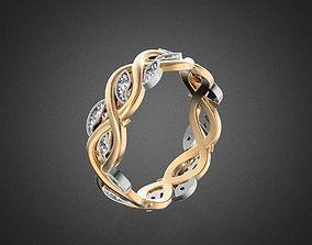 jewelry 3D printable model VINE wedding ring RG0014