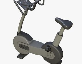 gymequipment GYM EXERCISE SPINNING BIKE - LOWPOLY 3D