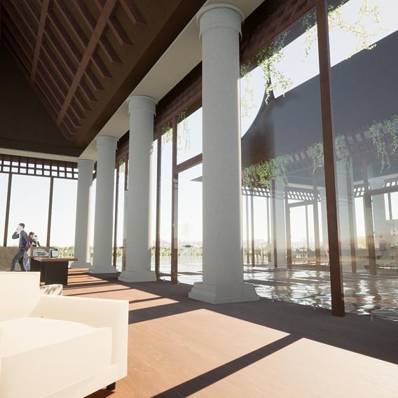 University project - Luxury Hotel Resort Lobby