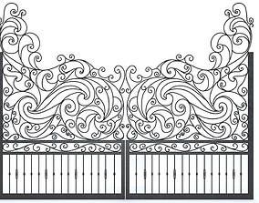 ornate Iron Gate 3D