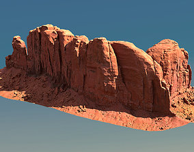 3D asset Scanned Canyon Cliff - E