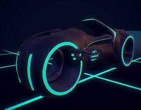 3D asset Light Cycle TRON